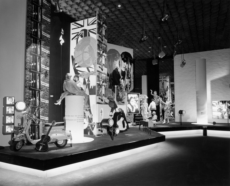 Interior. Detail of the Youth display in the Britain Today section of the British Pavilion at Expo 67.