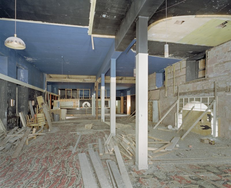Interior.  View along 1st floor disco area.