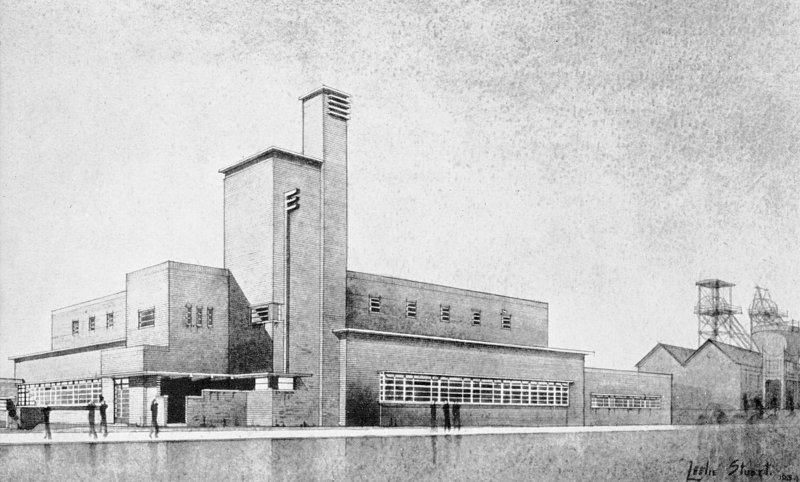 Scanned copy of image from annual report of Miners' Welfare Fund, 1934, Figure 3, Cardowan Colliery Baths, Lanarkshire.