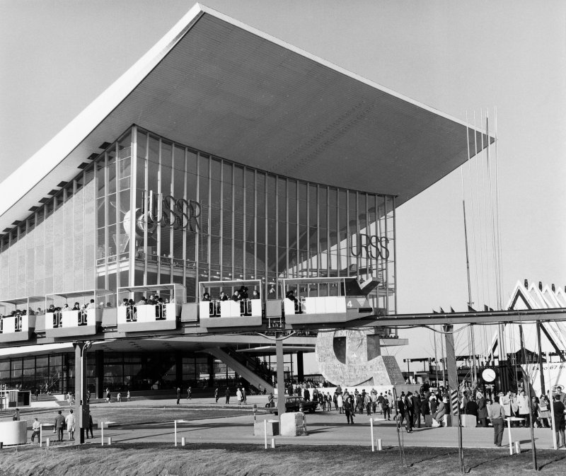 General view of the Russian Pavilion at Expo 67.