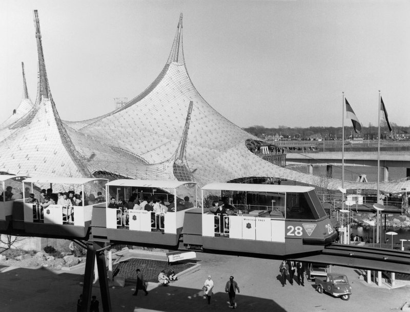 General view of the German Pavilion at Expo 67.