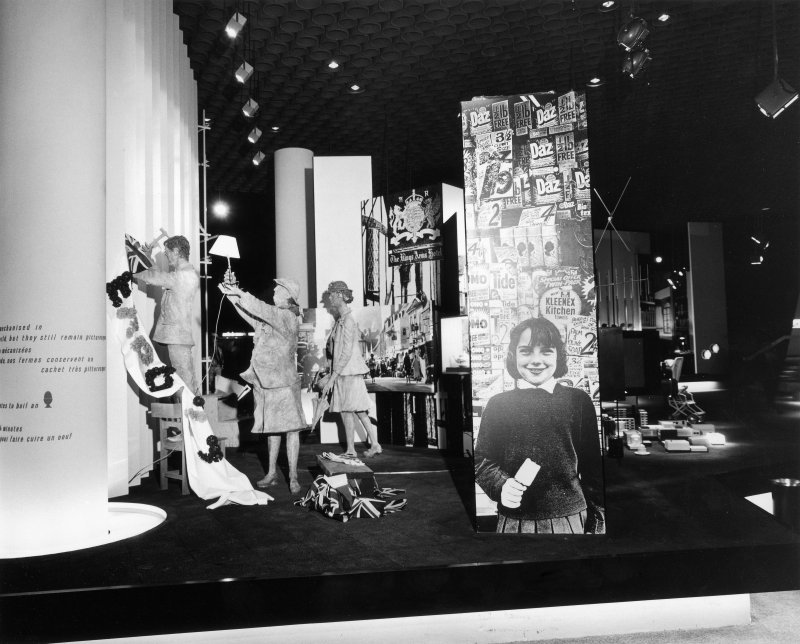 General view of the Britain Today section in the British Pavilion at Expo 67.