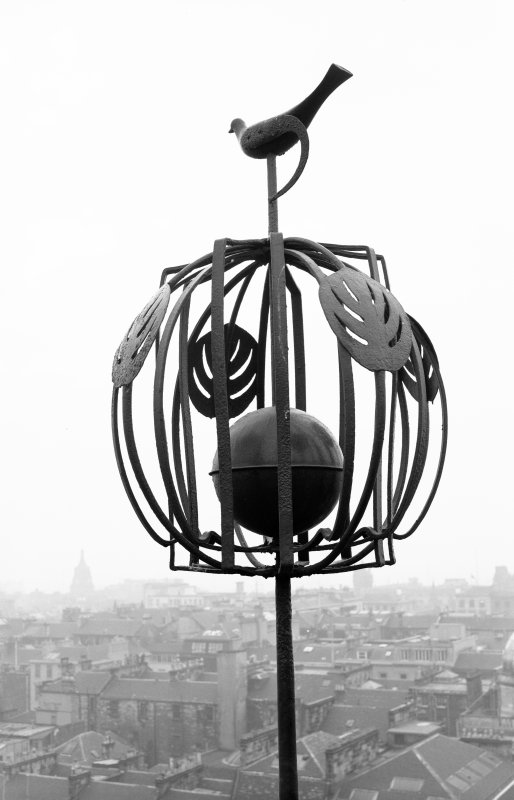 Glasgow School of Art Elevated view, with detail of weather vane
