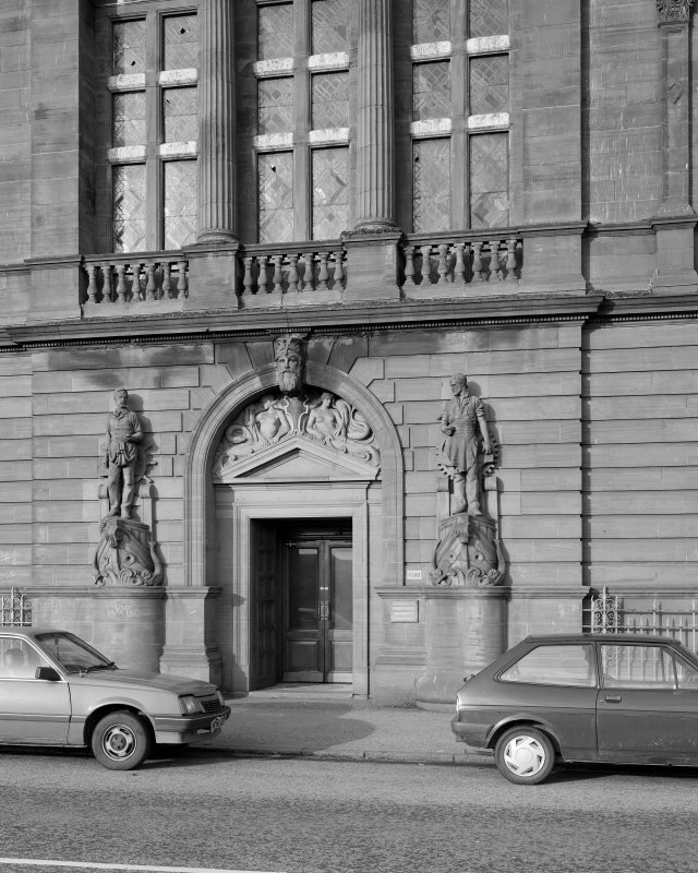 Glasgow, 1030-1048 Govan Road, Shipyard Offices View of main entrance to offices.