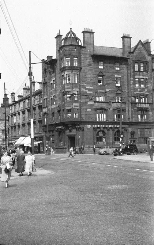 Glasgow, 816 Govan Road, British Linen Bank  General view from South East.