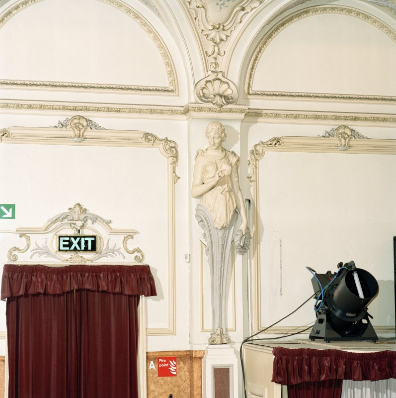 Interior.  Auditorium, detail of plaster figure.