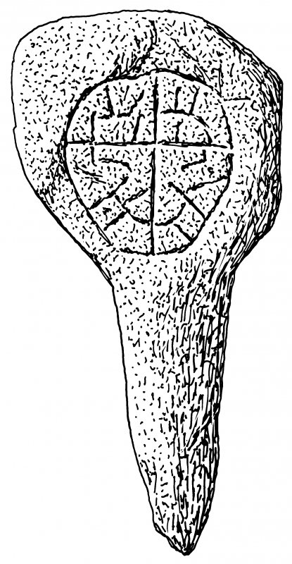 Ink drawing of Migvie incised cross