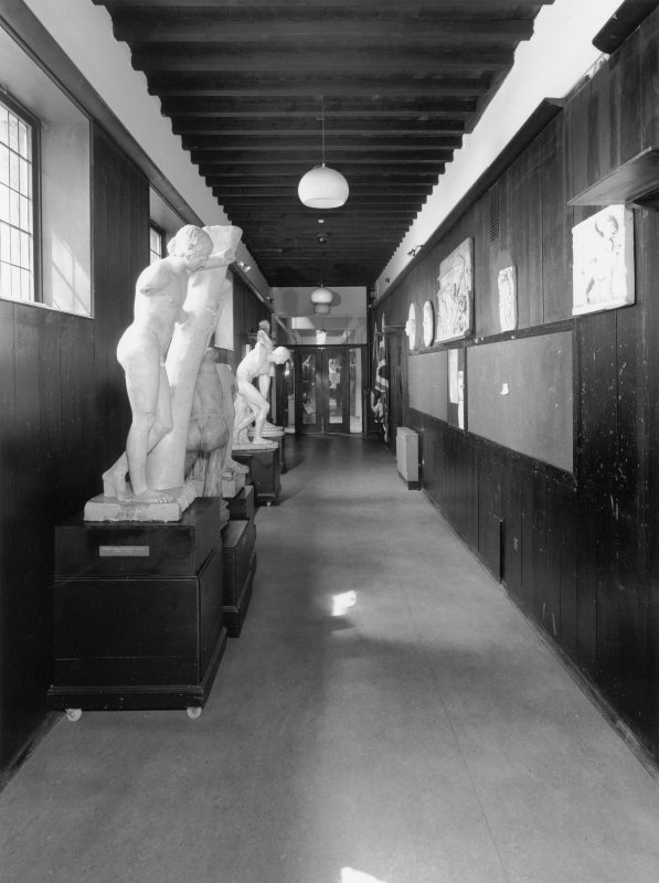 Interior.  Ground floor, W corridor, view from E