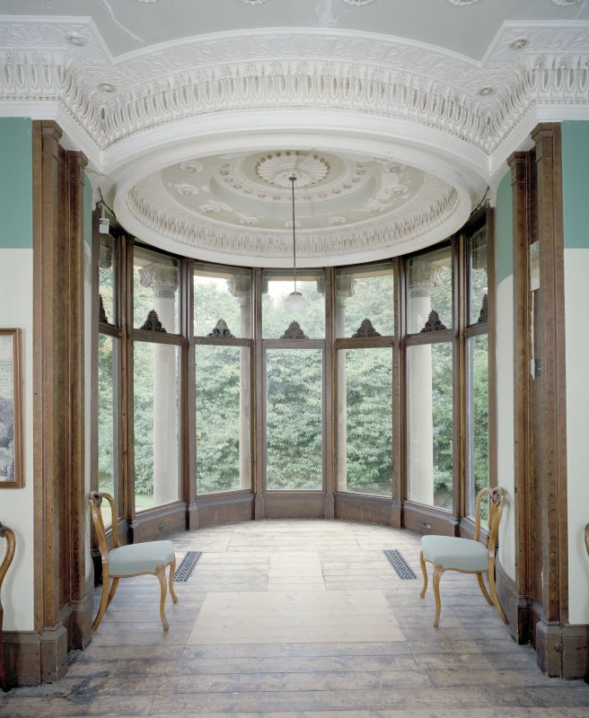 Interior, Holmwood House, Glasgow. View of  bay window