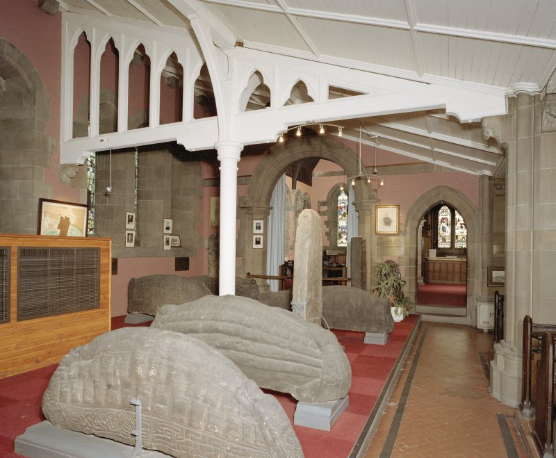 Interior. View of N Transept museum area