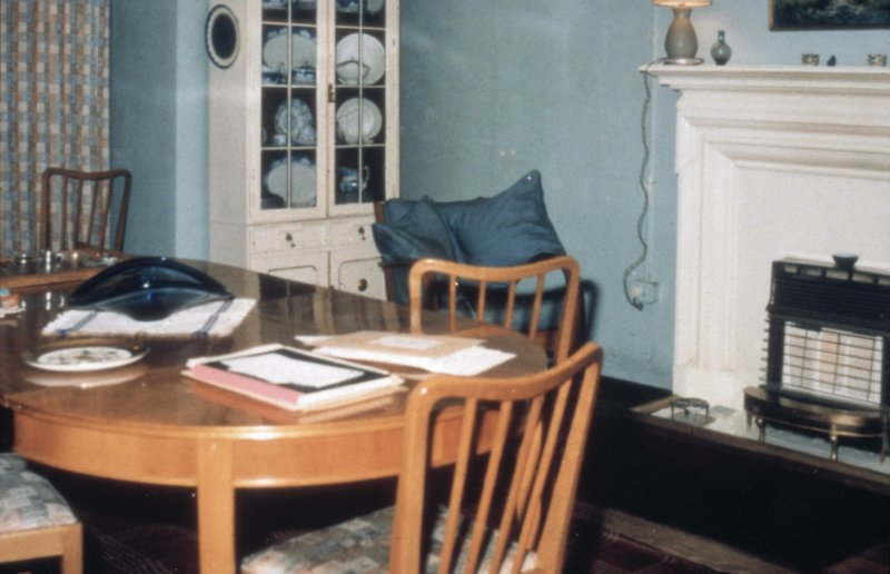 Glasgow, 1 Princes Terrace, interior Detail of dining area and fireplace.