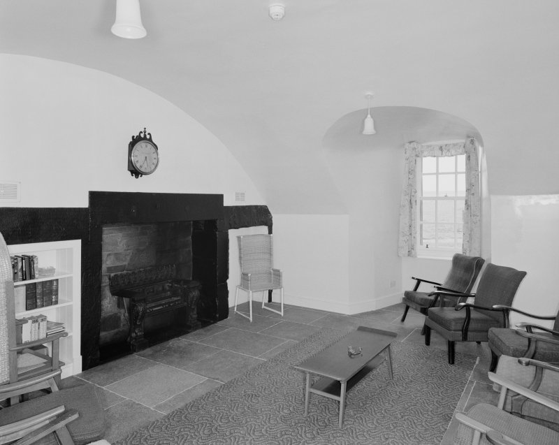 Interior, basement, vaulted room, view from south west