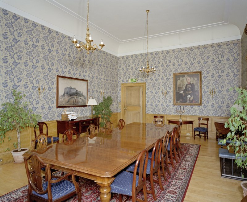 Interior. General view of Blue Room from NW.