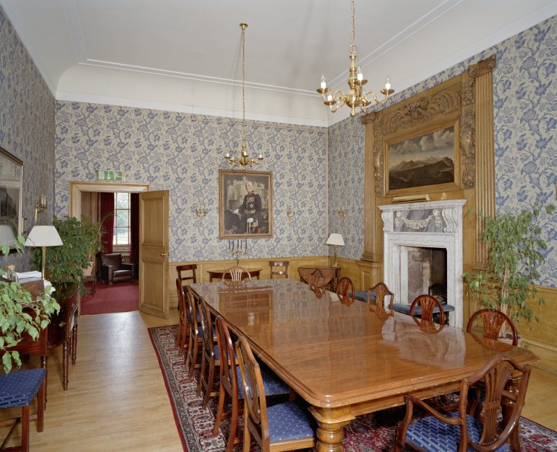 Interior. General view of Blue Room from S.