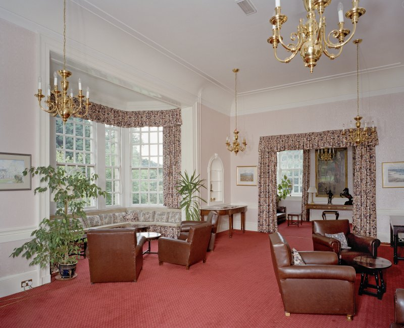 Interior. View of Ante room annex showing Sir Robert Lorimer designed Oriel window.