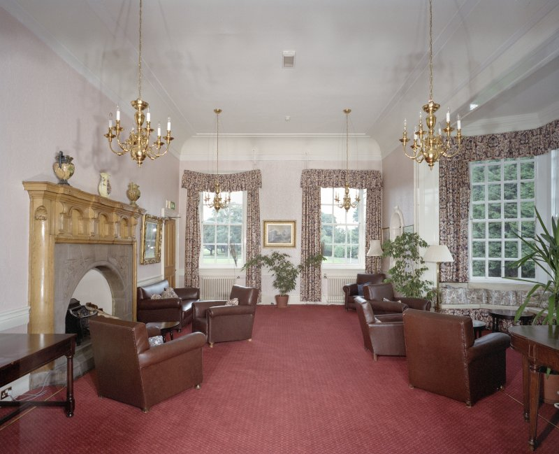 Interior. General view from S of Ante Room showing Sir Robert Lorimer designed Oriel window.