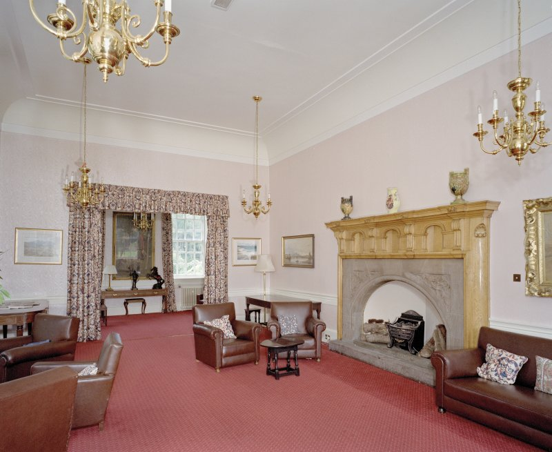 Interior. General view from N of Ante room with Sir Robert Lorimer fireplace.