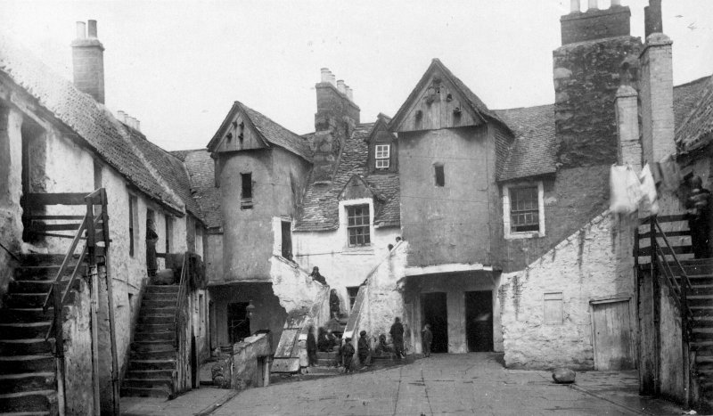 Historic photographic view of White Horse Close.