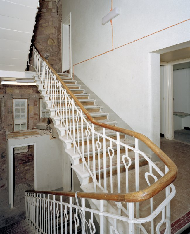 Interior. View of service stair