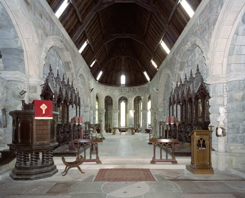 Interior. Chancel, view from W