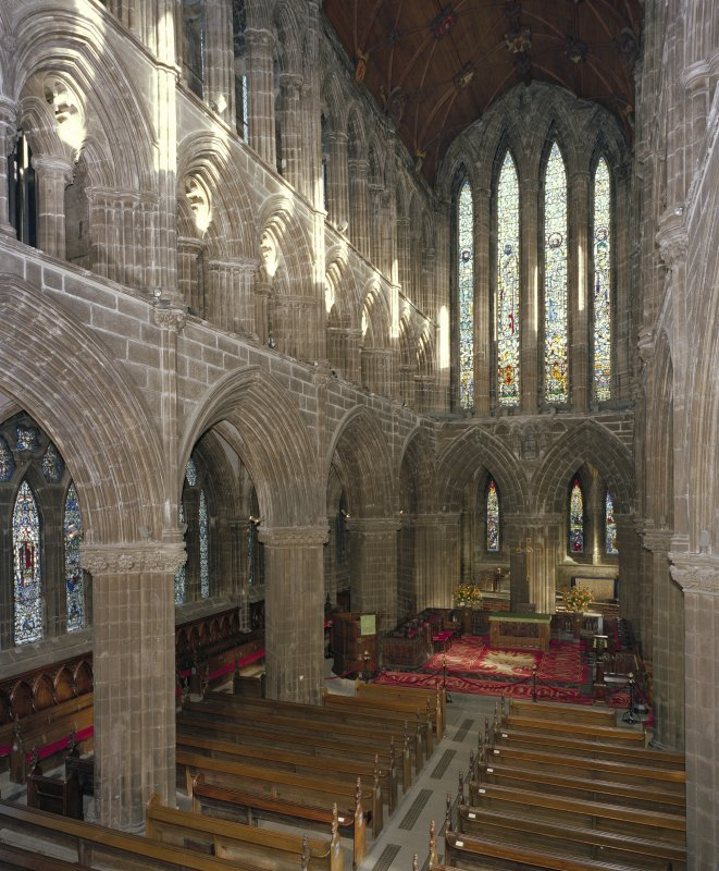 Digital copy of photograph of interior. General view of choir from SW.