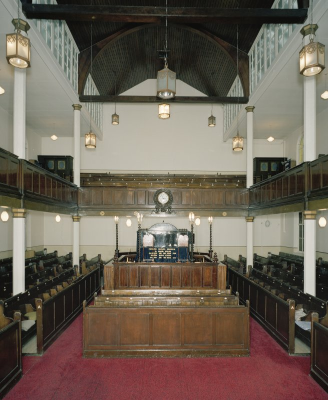 Digital copy of photograph of interior. View of ground floor and Bimah