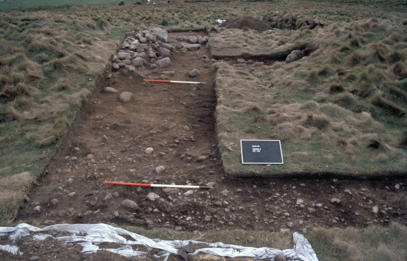 Excavation photographs: entrance of the multivallate fort, Brown Caterthun.