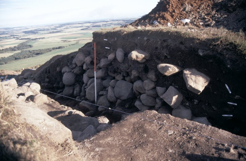 Excavation photographs: outer-most rampart of the multivallate fort, Brown Caterthun.