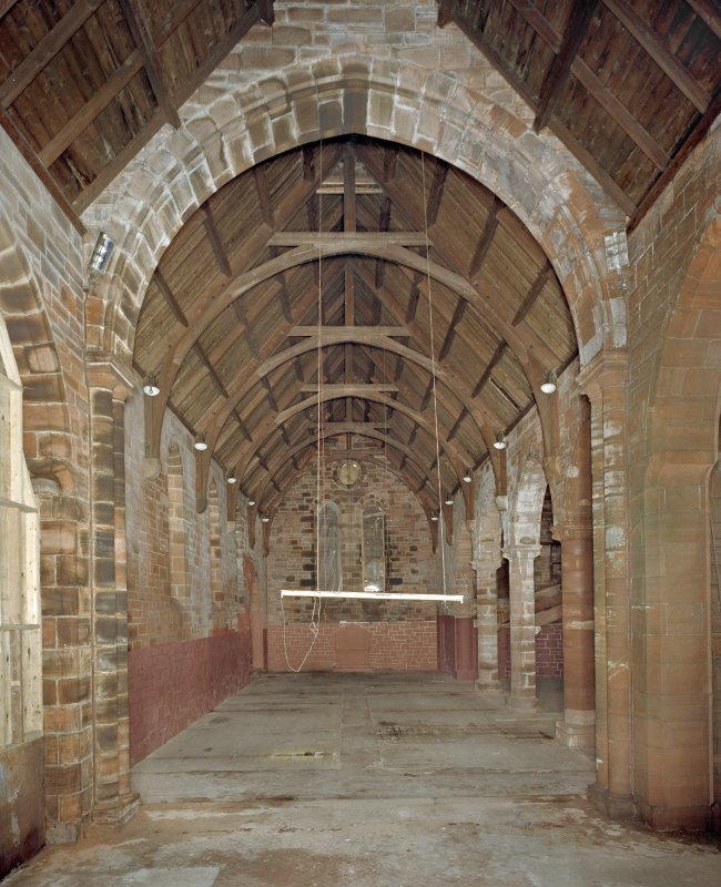 Interior. Nave. View from NW