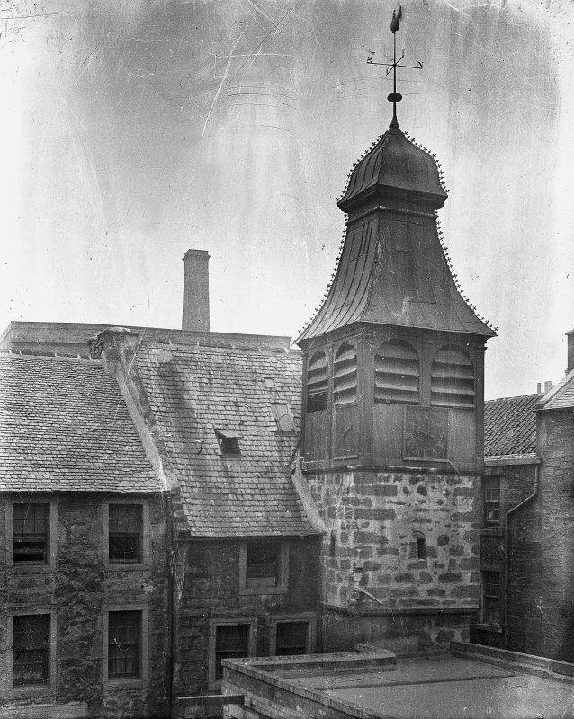 Edinburgh, Quayside Street, Former St Ninian's Manse View of steeple