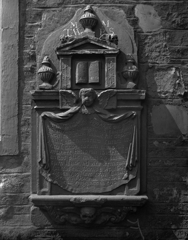 View of Wilkie Monument at Canongate Church.