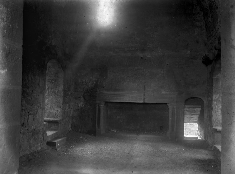 Interior.View of Hall, showing chimneypiece
