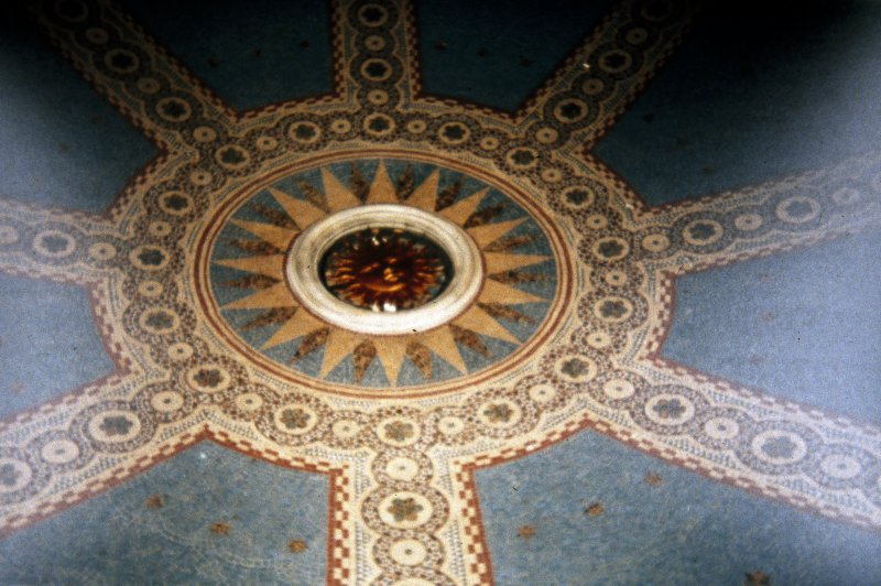 Interior view of Ceiling Dome of St. Bernards Well located on the Dean Path.