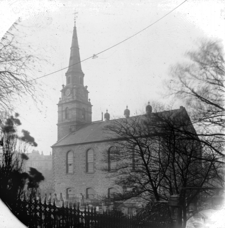 View from East of St Cuthbert's Church before rebuilding in 1890's.
