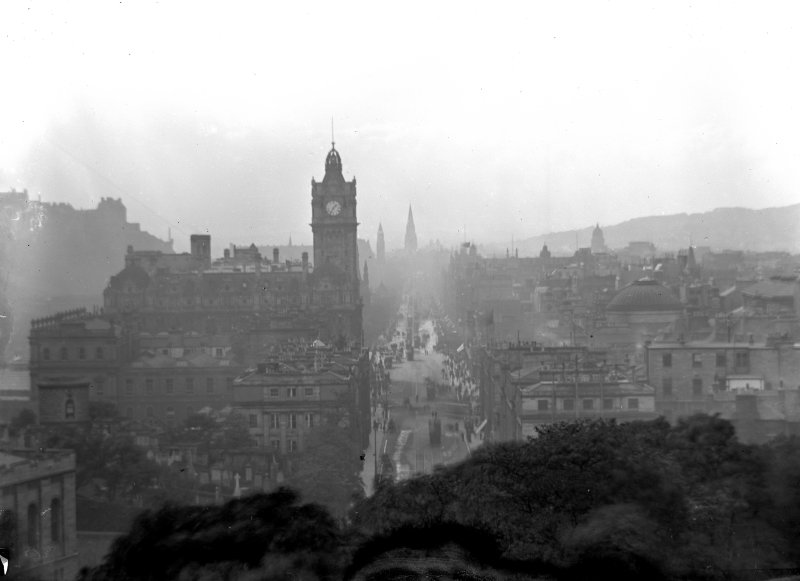 View looking west from Calton Hill.