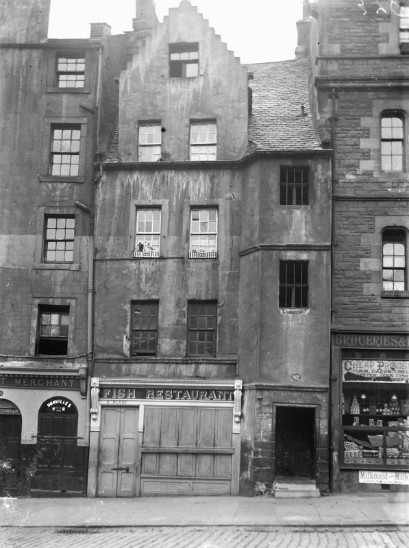 Elevation of 74 - 84 (even) Grassmarket, before restoration, also showing part of Nos 72 and 86
