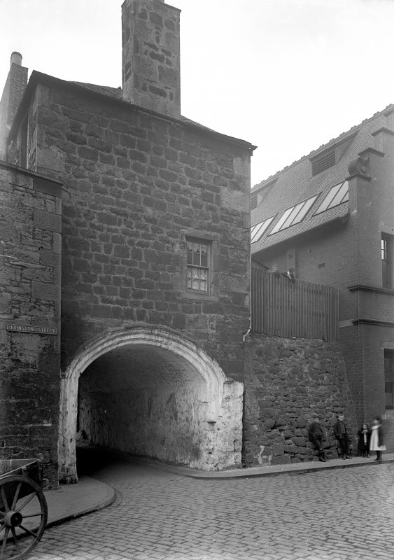 Edinburgh, Dock Street, Citadel. General view with children.