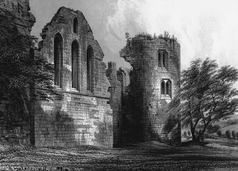 Photographic copy of engraving showing view of chapel.