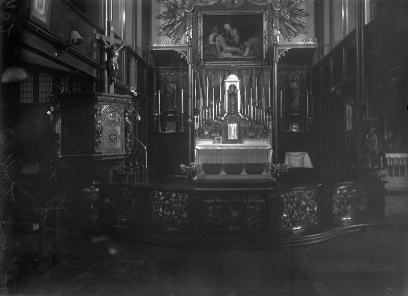 St Michael's Episcopal Church, interior. View of altar.