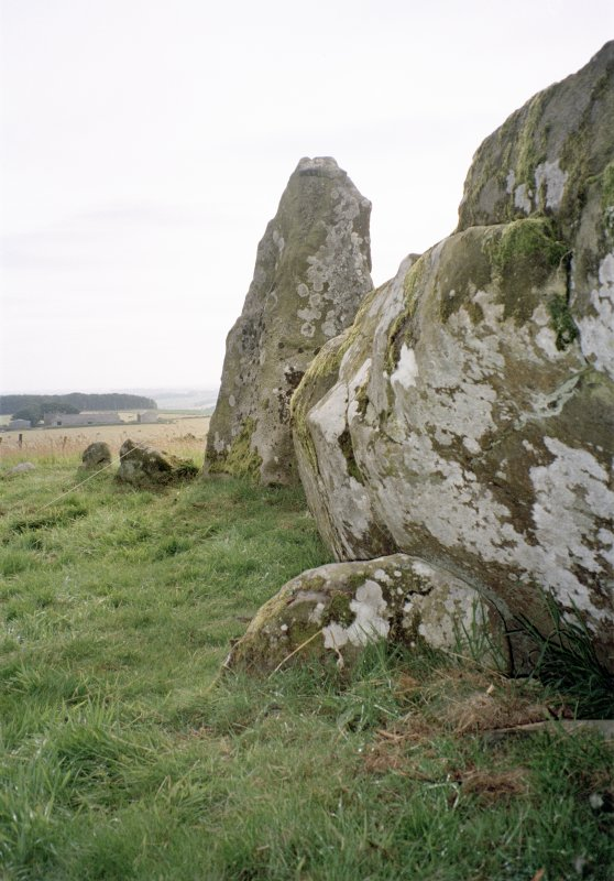 The buttress stone to the rear of the recumbent