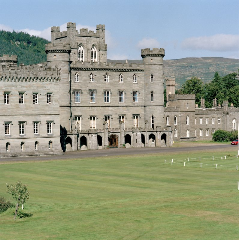 Taymouth Castle.  View of central block from South West.