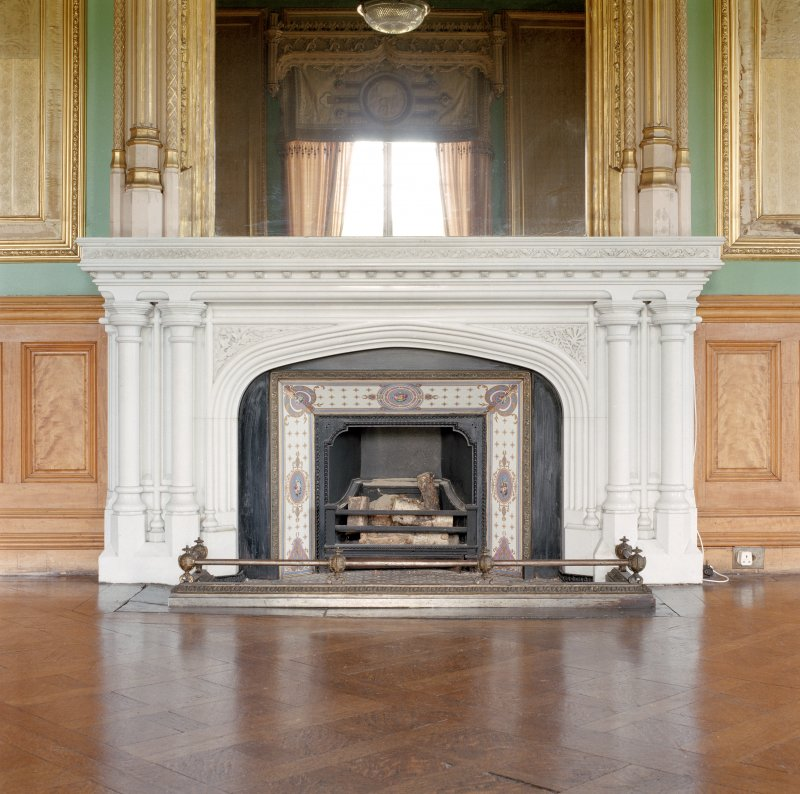 Taymouth Castle.  1st. floor, Chinese drawing-room, detail of fireplace.