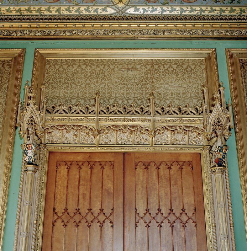 Taymouth Castle.  1st. floor, Chinese drawing-room, detail of decoration above door to anteroom.