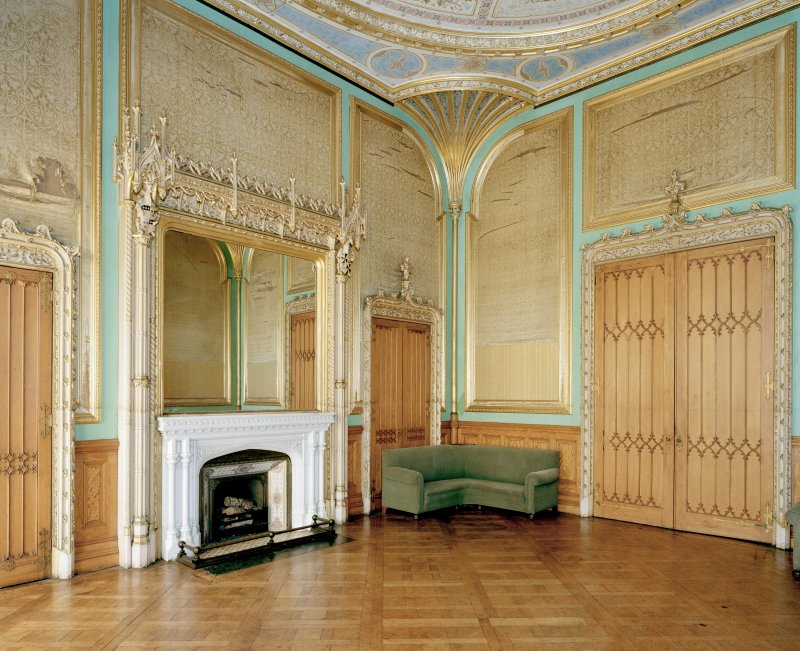 Taymouth Castle.  1st. floor, Chinese ante-room, view from South East.
