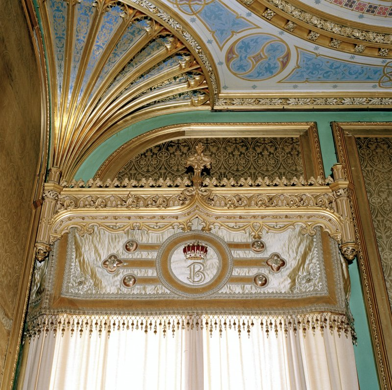 Taymouth Castle.  1st. floor, Chinese ante-room, detail of pelmet and ceiling.