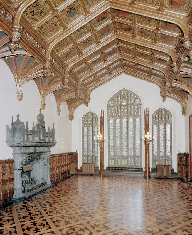 Taymouth Castle.  1st. floor, Banner hall, view from South East.