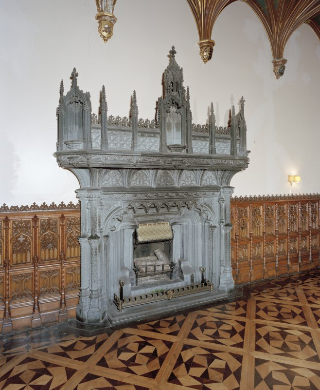 Taymouth Castle.  1st. floor, Banner hall, view of fireplace.