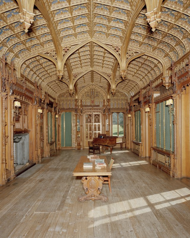 View of first floor library of Taymouth Castle, Perthshire, taken from North.