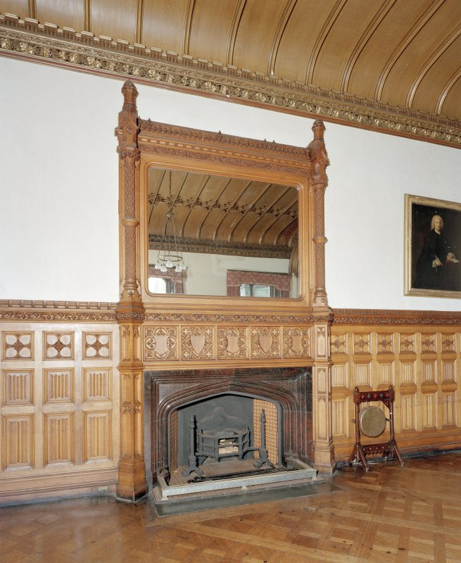 Taymouth Castle.  1st. floor, Breakfast room, view of fireplace.