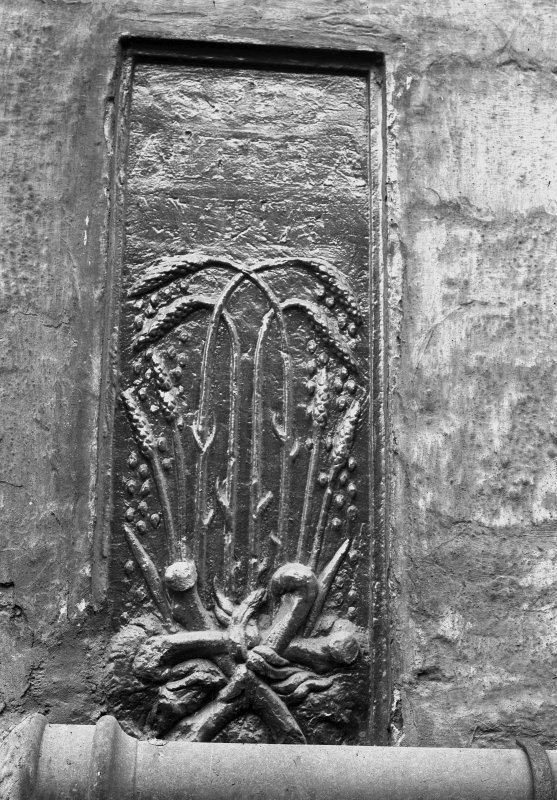 Carved panel, stalks and ears of wheat